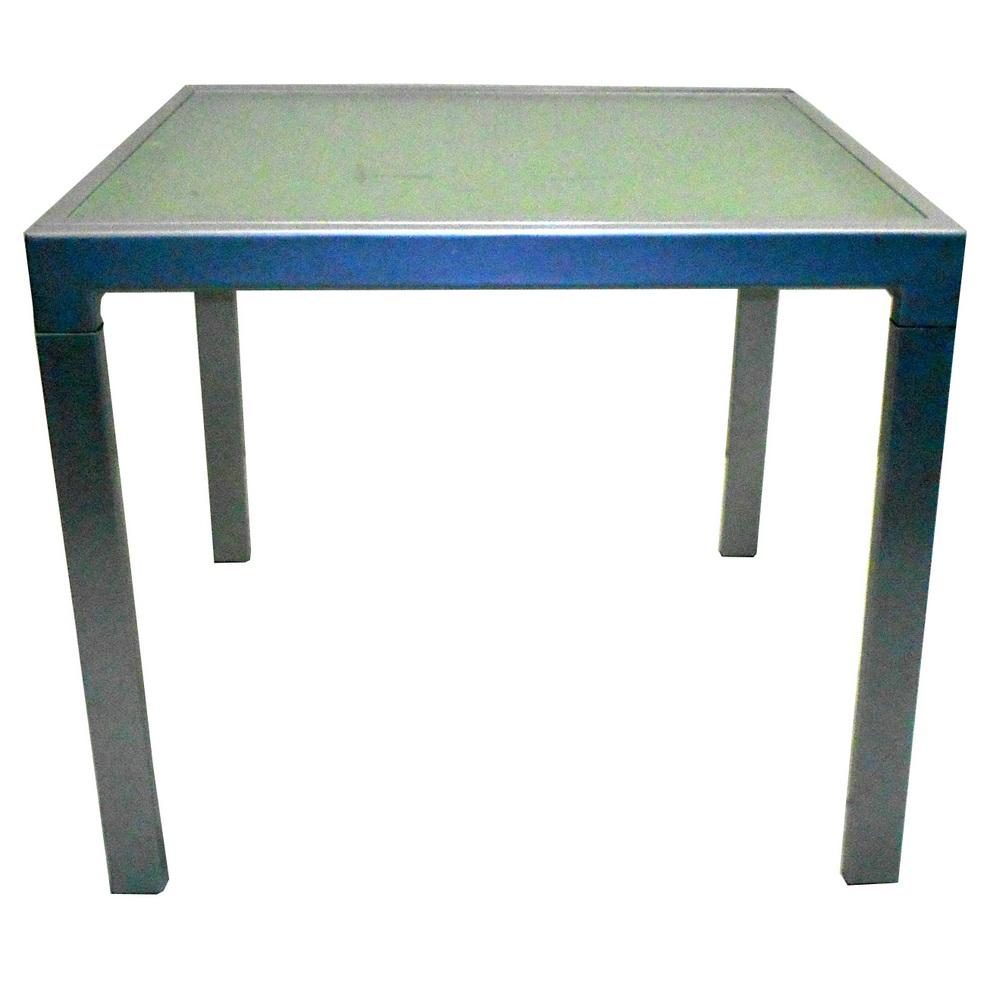 Tavolo Allungabile Acciaio Vetro.Tavolo Allungabile 90x90 180 Vetro Satinato Acciaio Sostenibile