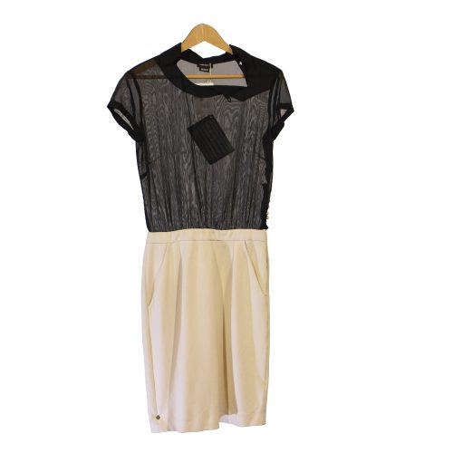 6a4f74ab3246 ST ABITO DONNA NERO PANNA TOP TRASPARENTE  MISS SIXTY  TG M (NUOVO)