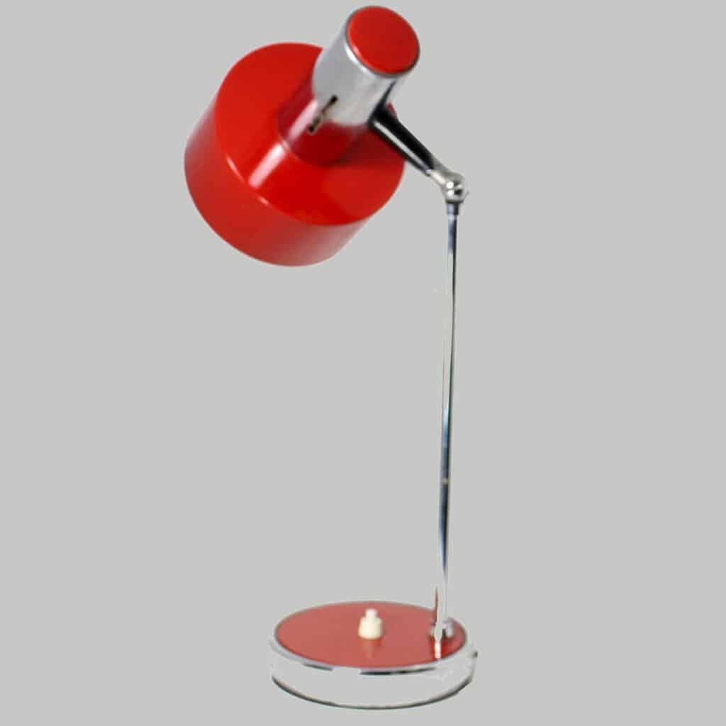 Lampada Da Tavolo Anni 70 Rossa Sostenibile